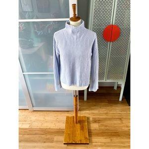 Lou & Grey Mock Turtleneck Sweater in Light Blue